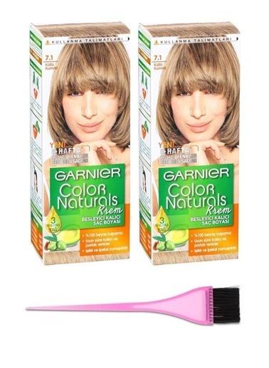 Garnier Garnier 2 Adet Color Naturals Saç Boyası 7.1 + Boya Fırçası Renksiz